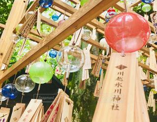 川越氷川神社の風鈴の写真・画像素材[1309949]