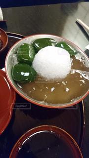 祇園の和カフェの葛餅とわらび餅の写真・画像素材[992932]