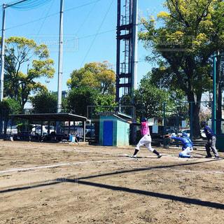 草野球の試合の写真・画像素材[2045914]