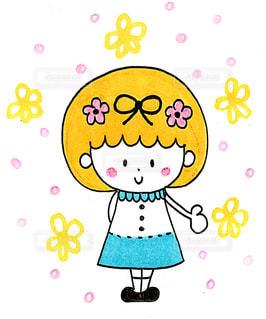 ほんわか*女の子のイラストの写真・画像素材[993157]