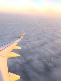 空を飛んでいる飛行機の写真・画像素材[994933]