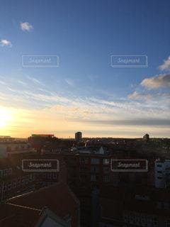デンマーク第二の都市オーフスの夕暮れの写真・画像素材[1025910]