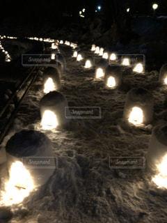 湯西川温泉かまくら祭の写真・画像素材[1019909]