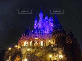 シンデレラ城の夜間ライトアップ - No.994621