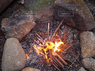 直火の焚き火の写真・画像素材[996260]
