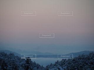 冬の雲海の写真・画像素材[996262]