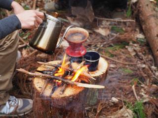 焚き火コーヒーの写真・画像素材[1045965]