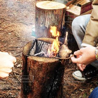 焚き火の写真・画像素材[1119850]