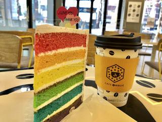 rainbow cake 🌈の写真・画像素材[996331]
