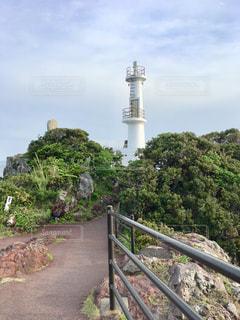鹿児島の薩摩長崎鼻灯台の写真・画像素材[1376064]