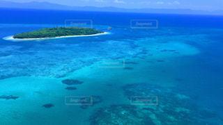 世界遺産グリーン島を空からの写真・画像素材[997931]