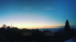 山からの朝焼けの写真・画像素材[1006888]