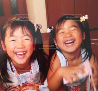 そっくりな笑顔の写真・画像素材[1006653]