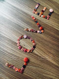 ボタン LOVE メッセージの写真・画像素材[1002420]
