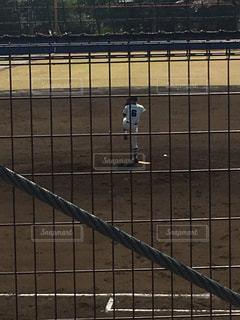 野球のピッチャーの写真・画像素材[1105983]