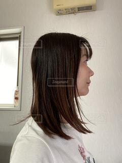 女性の横顔の写真・画像素材[4288364]