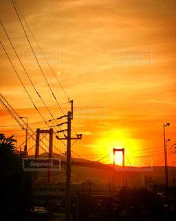 夕日と若戸大橋 - No.1001431