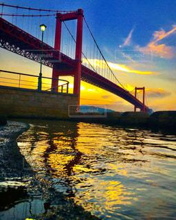 夕暮れの若戸大橋ですの写真・画像素材[1001434]