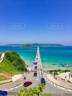 角島大橋とデミオの写真・画像素材[1002168]