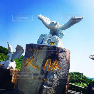 鷹島にあるホークスの必勝モニュメント - No.1004038