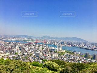 高塔山からの若戸大橋 - No.1139503