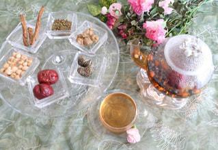 薬膳茶のアフタヌーンティーの写真・画像素材[1005157]