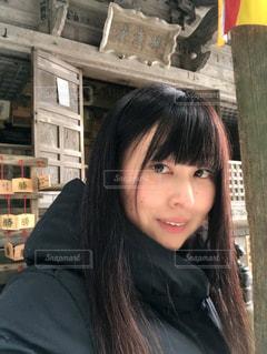 弁慶堂で記念撮影の写真・画像素材[1008377]