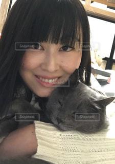 猫と一緒に♪の写真・画像素材[1104488]