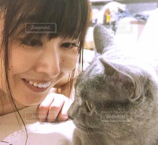 愛猫とわたしの写真・画像素材[2815183]