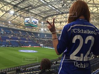 ドイツでサッカー観戦の写真・画像素材[1026607]