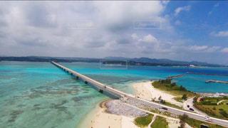古宇利島の空撮の写真・画像素材[1005434]