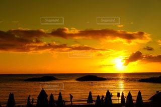 sunset beachの写真・画像素材[1006881]