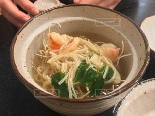 あったかい素麺の写真・画像素材[1005715]