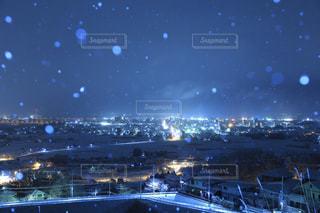 夜の街の景色の写真・画像素材[1005422]