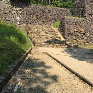 松江城、築城時の石垣の写真・画像素材[1005743]
