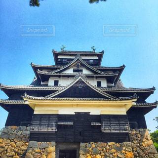 青空と松江城の写真・画像素材[1007457]