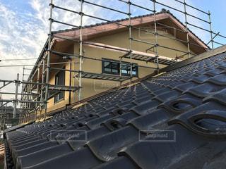 新築建物の屋根の写真・画像素材[1058370]