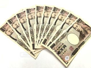 10万円分の一万円札の扇写真の写真・画像素材[1140849]