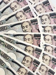 一万円札の扇写真の写真・画像素材[1140855]