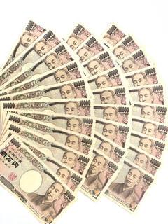 一万円札の扇の写真・画像素材[1140861]