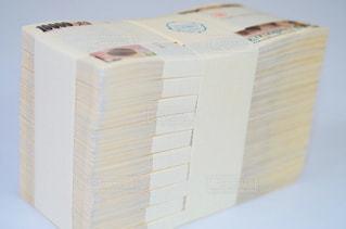一千万円分の一万円札の写真・画像素材[1248612]