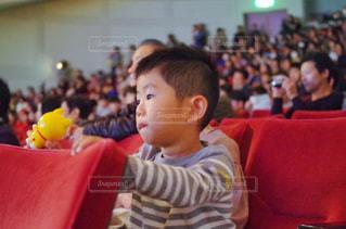 座席に座る男の子の写真・画像素材[1625420]