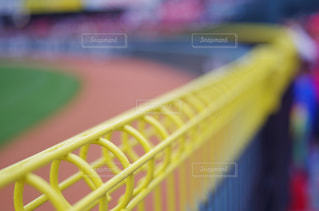 野球場 外野スタンド フェンスの写真・画像素材[2019240]