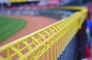 野球場 外野スタンド フェンスの写真・画像素材[2019241]
