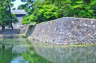 松江城 石垣と水堀の写真・画像素材[2211107]