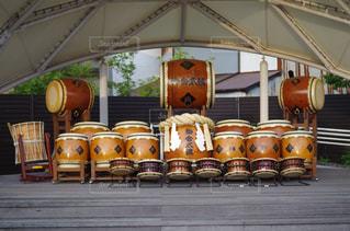 太鼓演舞 お祭りの写真・画像素材[2322251]