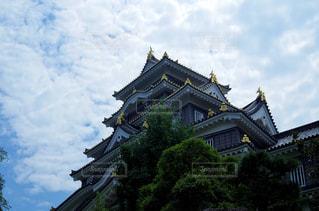 岡山城 天守の写真・画像素材[2402917]