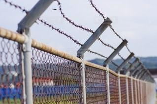 フェンス 有刺鉄線の写真・画像素材[2613523]