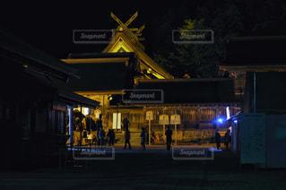 出雲大社 本殿 ライトアップの写真・画像素材[2924848]