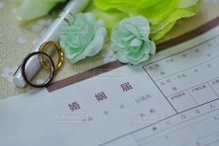 婚姻届 記入イメージの写真・画像素材[2926398]